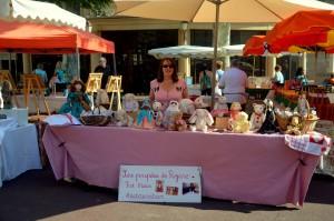 Le magnifique stand des poupées de Réjane Alzieu !