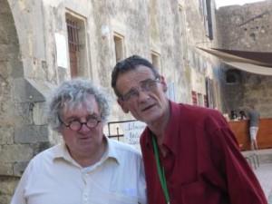 Bruno Salgues, notre Président et Philippe Lemoine, Président des Mille-Poètes en Méditerranée