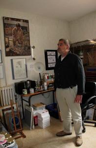 un petit tour dans l'atelier de Michel dérosier