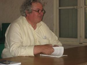 Bruno Salgues, notre président, en conférence dans une des salles du Château de Capestang