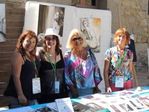 Accueil et sourire de bienvenue : Mijo, Marie-France Capo, Réjane Alzieu et Monique-Marie Ihry